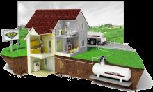 отопление частного дома сжиженным газом из газгольдера